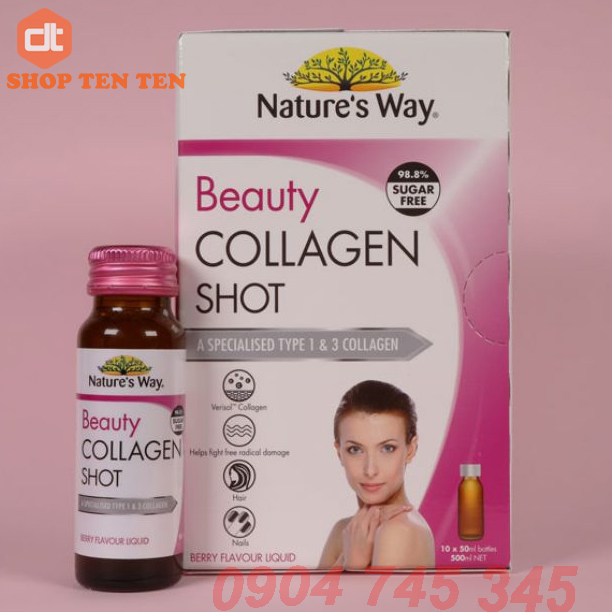 Collagen Nước Nature's Way Beauty Collagen Shot Úc