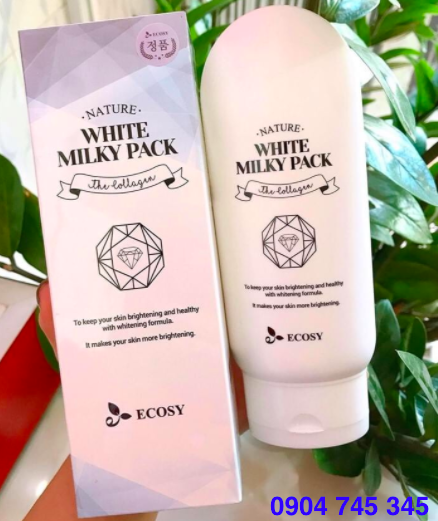 Kem dưỡng trắng body Nature White Milky Pack ECOSY