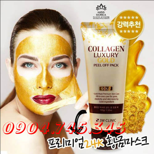 Mặt Nạ Vàng Tinh Chất Collagen & Luxury Gold Peel Off Pack 3W Clinic
