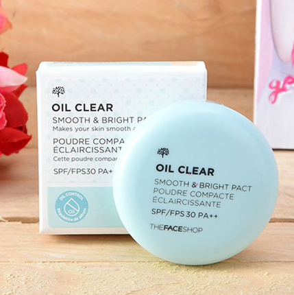 Phấn Phủ Kiềm Dầu Oil Clear Blotting Pact The Face Shop