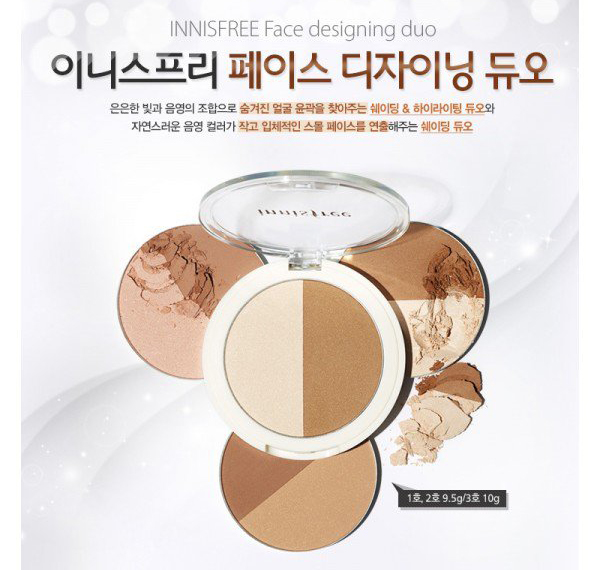 Tạo khối highlight Innisfree Face Designing Duo